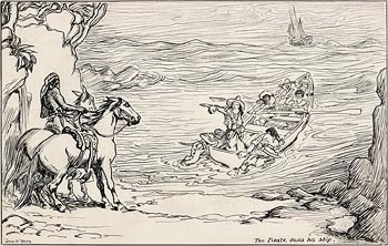 Jack Butler Yeats, The Pirate Joins his Ship at Morgan O'Driscoll Art Auctions