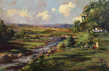George K. Gillespie, The Picnic Near Castlederg, Co. Tyrone at Morgan O'Driscoll Art Auctions