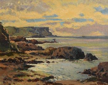 Maurice Canning Wilks, Evening Light, Dunseverick. Co. Antrim at Morgan O'Driscoll Art Auctions