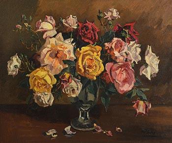 Ann Primrose Jury, Vase of Roses at Morgan O'Driscoll Art Auctions