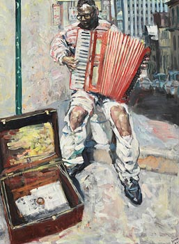 Hector McDonnell, Accordion Player, San Francisco (1999) at Morgan O'Driscoll Art Auctions