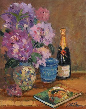 Liam Treacy, Rhododendron and Book at Morgan O'Driscoll Art Auctions