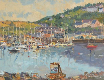 Liam Treacy, Kinsale with Easel at Morgan O'Driscoll Art Auctions