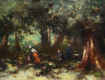 George William Russell, Children in the Woods at Morgan O'Driscoll Art Auctions