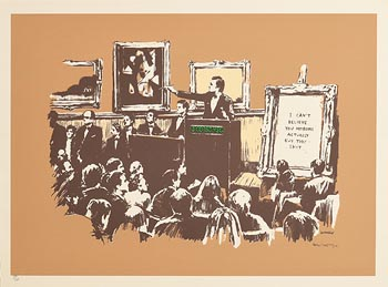 Banksy, Morons (Sepia), 2007 at Morgan O'Driscoll Art Auctions
