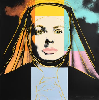 Andy Warhol, The Nun, from Ingrid Bergman, 1983 (F. & S. II.314) at Morgan O'Driscoll Art Auctions