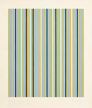 Bridget Riley, (R 2014) Study For Painting Four Colours, Black and White, Visual Grey, Warm and Cold Yellow Sensation (1981) at Morgan O'Driscoll Art Auctions