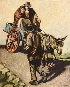 William Conor, The Donkey - Cart (1923) at Morgan O'Driscoll Art Auctions