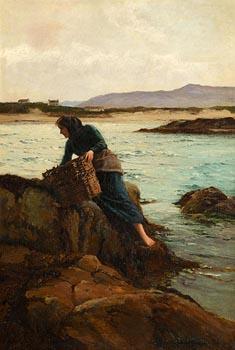 William Henry Bartlett, A Carrageen Moss Gatherer (1910) at Morgan O'Driscoll Art Auctions