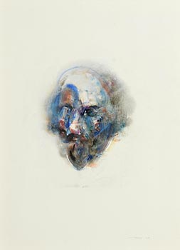Louis Le Brocquy, Study Towards an Image of Shakespeare (1982) (Opus W598) at Morgan O'Driscoll Art Auctions
