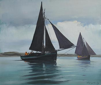 Cecil Maguire, The Connacht, Roundstone Regatta (1986) at Morgan O'Driscoll Art Auctions