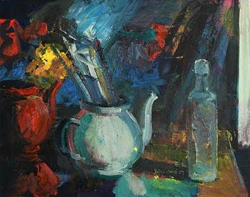 Brian Ballard, Brushes in Teapot (2019) at Morgan O'Driscoll Art Auctions