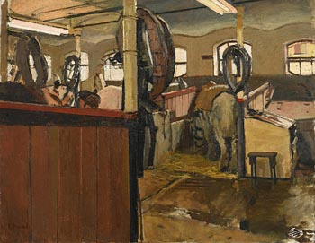 Ken Howard, The Stables at Morgan O'Driscoll Art Auctions