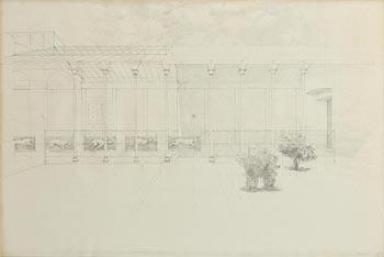 Colin Harrison, Dogs in a Corridor (1977) at Morgan O'Driscoll Art Auctions
