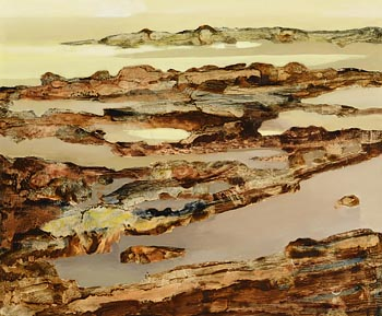 Arthur Armstrong, Rocks at Low Tide at Morgan O'Driscoll Art Auctions