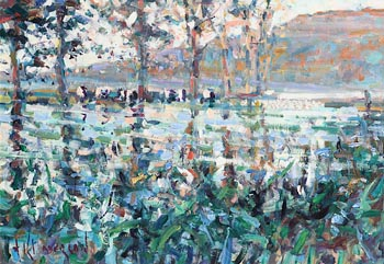 Arthur K. Maderson, River Blackwater, Evening Near Ballyduff at Morgan O'Driscoll Art Auctions