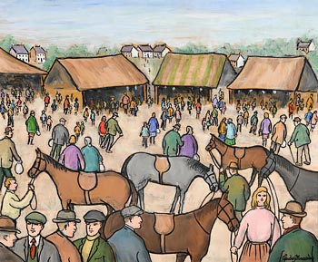 Gladys MacCabe, Market Day - Pony Sale at Morgan O'Driscoll Art Auctions