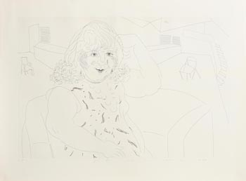 David Hockney, Ann in the Studio (1984) at Morgan O'Driscoll Art Auctions