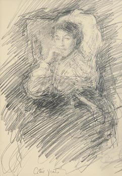 John Butler Yeats, Mary 'Cottie' Yeats (c.1903-4) at Morgan O'Driscoll Art Auctions