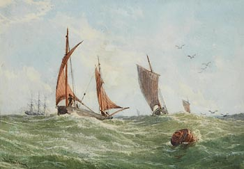 John Faulkner, Sailing in a Heavy Swell at Morgan O'Driscoll Art Auctions