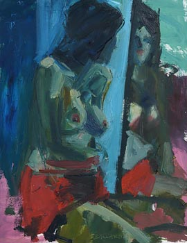 Brian Ballard, Model in Red Skirt (2010) at Morgan O'Driscoll Art Auctions