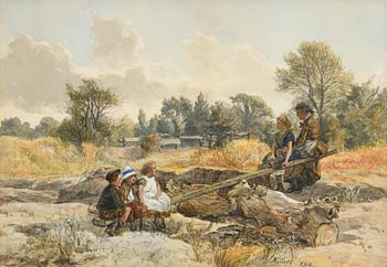 Alfred Grey, Children on a See Saw at Morgan O'Driscoll Art Auctions