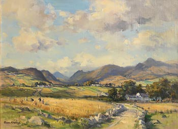 Frank McKelvey, Harvest Time in the Mournes at Morgan O'Driscoll Art Auctions
