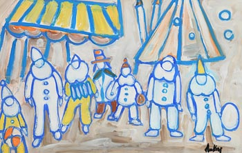 Markey Robinson, Circus Performers at Morgan O'Driscoll Art Auctions