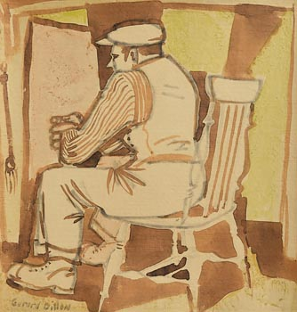 Gerard Dillon, Sitting by the Hearth at Morgan O'Driscoll Art Auctions