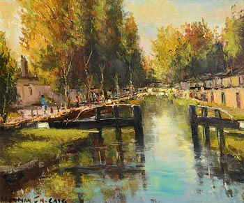 Norman J. McCaig, By the Banks of the Grand Canal at Morgan O'Driscoll Art Auctions