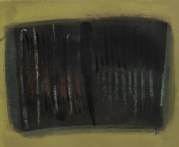 Tony O'Malley, Untitled Abstract (Green) (1968) at Morgan O'Driscoll Art Auctions