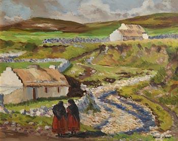 Fergus O'Ryan, Achill Gossips at Morgan O'Driscoll Art Auctions