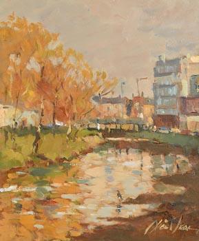 Liam Treacy, Canal, Autumn at Morgan O'Driscoll Art Auctions