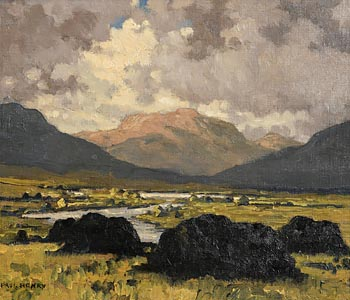 Paul Henry, Maam Valley, Connemara (1942) at Morgan O'Driscoll Art Auctions