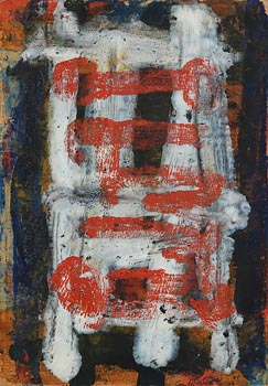 Camille Souter, Composition Red on White (1956) at Morgan O'Driscoll Art Auctions