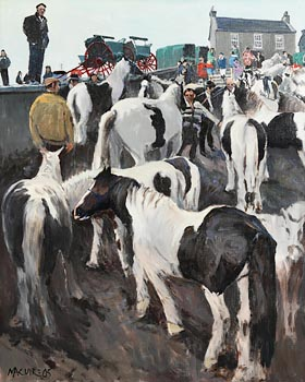 Cecil Maguire, Horse Fair, Ballinasloe (2005) at Morgan O'Driscoll Art Auctions