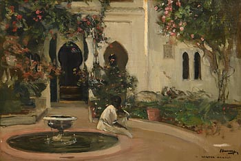 Sir John Lavery, The House of Walter Harris at Tangier at Morgan O'Driscoll Art Auctions