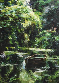 Mark O'Neill, Secluded Pond (2004) at Morgan O'Driscoll Art Auctions