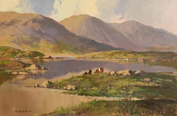 George K. Gillespie, Evening Reflections on the Road to Roundstone at Morgan O'Driscoll Art Auctions