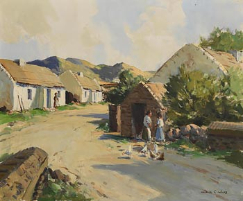 Maurice Canning Wilks, At Doochary, Co. Donegal at Morgan O'Driscoll Art Auctions