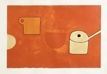 William Scott, Cup, Bowl, Pan, Reds and Ochres (1970) at Morgan O'Driscoll Art Auctions