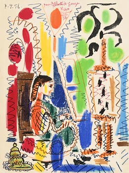 Pablo Picasso, L'Atelier de Cannes, cover for 'Ces peintres nos amis, Vol. II' at Morgan O'Driscoll Art Auctions