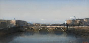 Martin Mooney, The Four Courts and Liffey (2004) at Morgan O'Driscoll Art Auctions