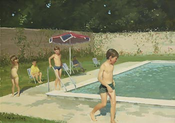 Henry Robertson Craig, The Swimming Pool at Morgan O'Driscoll Art Auctions