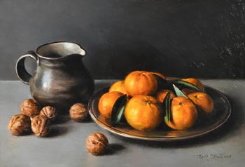 Mark O'Neill, Still Life with Fruit and Walnuts (2006) at Morgan O'Driscoll Art Auctions