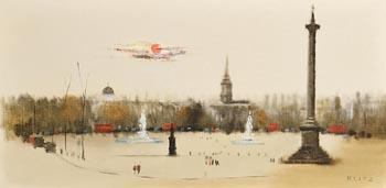 Anthony Robert Klitz, Trafalgar Square at Morgan O'Driscoll Art Auctions