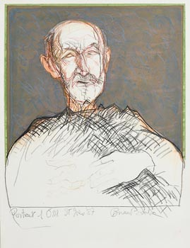 Brian Bourke, Portrait of Tony O'Malley, St. Ives (1987) at Morgan O'Driscoll Art Auctions