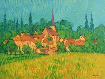 Desmond Carrick, The Quiet Village at Morgan O'Driscoll Art Auctions