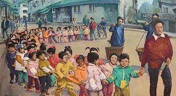 Cecil Maguire, Chinese Dragon, Yang Sho, China at Morgan O'Driscoll Art Auctions