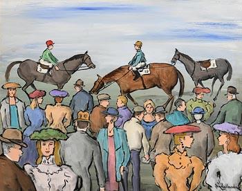 Gladys MacCabe, At the Races at Morgan O'Driscoll Art Auctions
